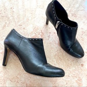 Vince Camuto studded leather heel booties size 7.5